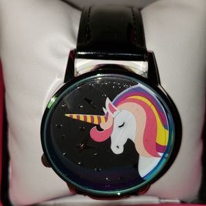 Betsy Johnson unicorn universe rainbow watch